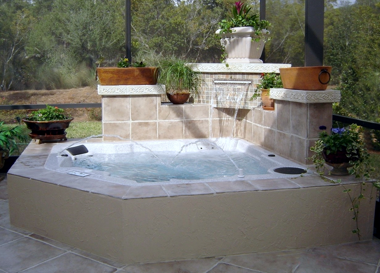 In Ground Spa With Planters Jacksonville Hot Tubs And Spas
