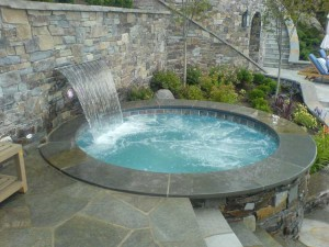 composite spa waterfall